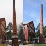Porównanie komina przed i po remoncie